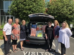 DFH employees help food bank